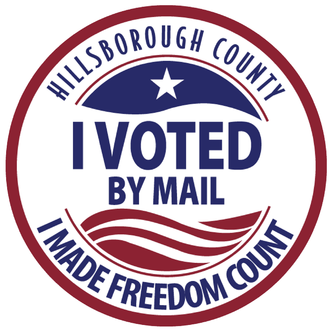 i voted by mail sticker image